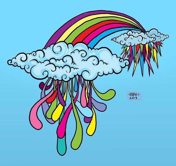 Rain the rainbow colour