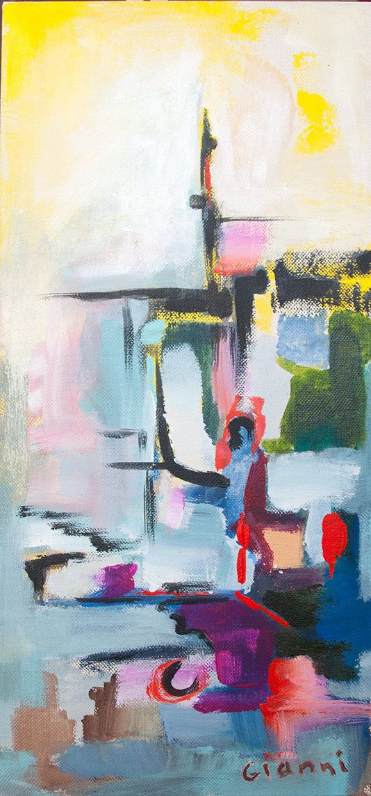 City Remnants Abstract PAinting Original Artwork Acryl On Canvas GianniTheArtist by GianniTheArtist on Etsy