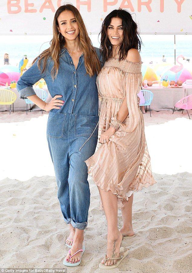 Jessica Alba and Jenna Dewan-Tatum at the Baby2Baby Beach Playdate in Santa Monica, CA - June 2, 2017