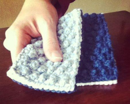 Free Bobble stitch scrubber pattern.
