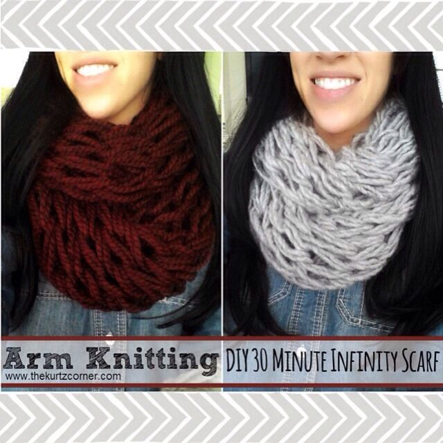 You Can Knit An Infinity Scarf In 30 Minutes...With Your Arms!