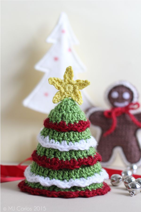 DIY: crocheted mini christmas tree ༺✿ƬⱤღ✿༻