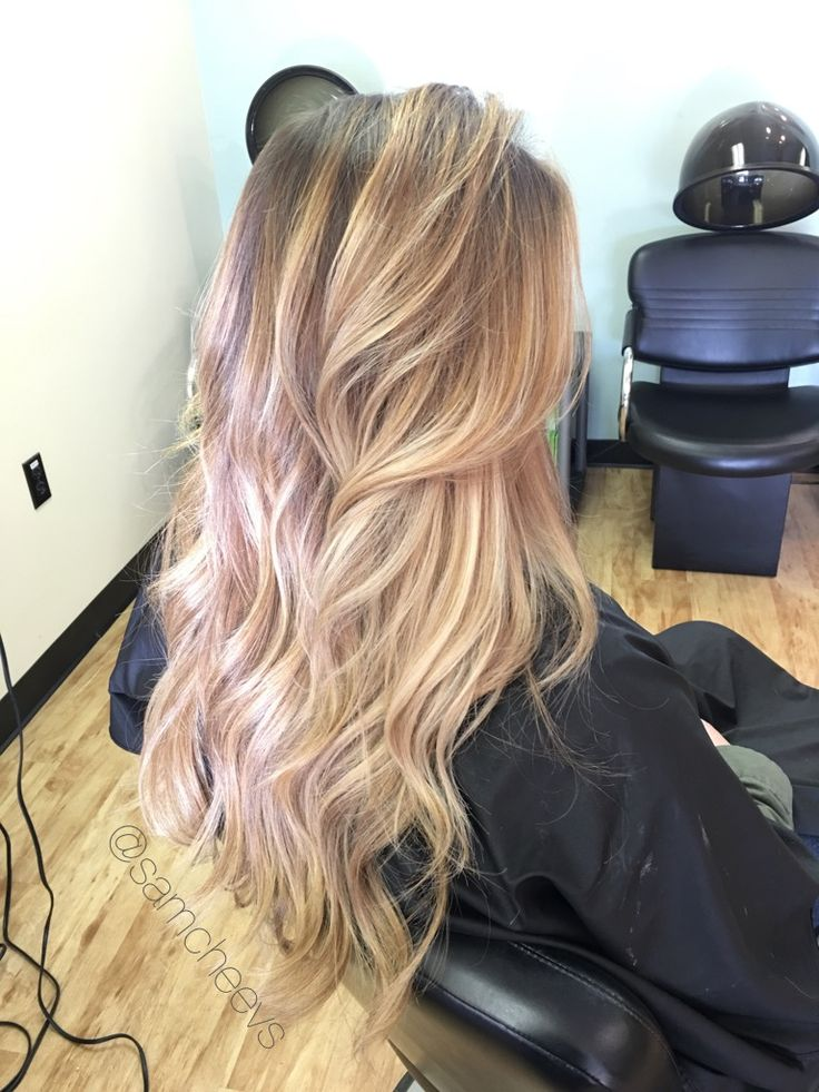 Honey Platinum Winter Golden Blonde Balayage Ombre For