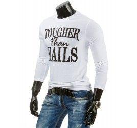 Pánské tričko s dlouhým rukávem - Bartollini, bílé | TAXIDO fashion