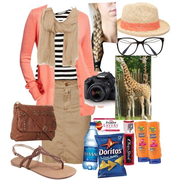"""""""Trip to the zoo"""", created by modesteen on Polyvore"""