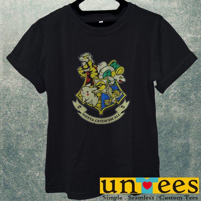 Low Price Men's Adult T-Shirt - Harry Potter Pokemon Funny Logo Design