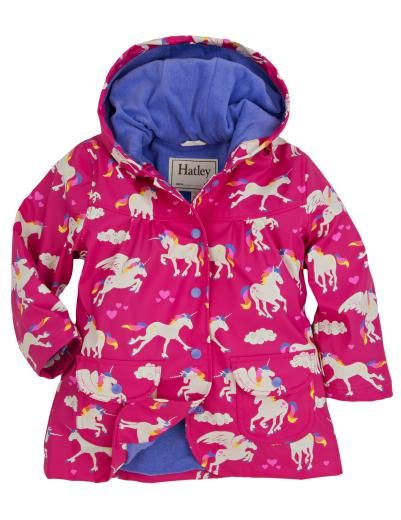Hatley Girls Raincoat, Unicorns & Rainbows - £31.99 - A great range of Hatley Girls Raincoat Unicorns Rainbows - FREE Delivery over £25!
