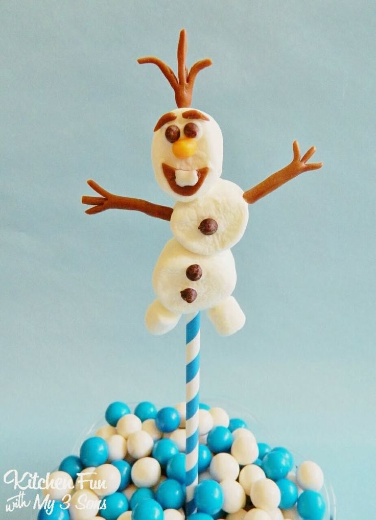 Easy Olaf Marshmallow Pops How-To