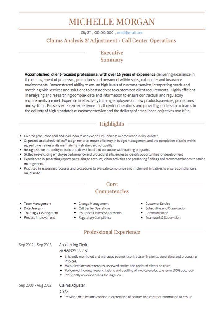 Call Center Cv Example Cv Examples Call Center Resume Examples