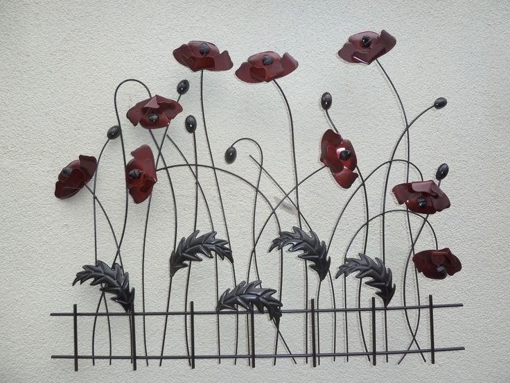 Maki ozdoba z metalu na ścianę #dekoracje