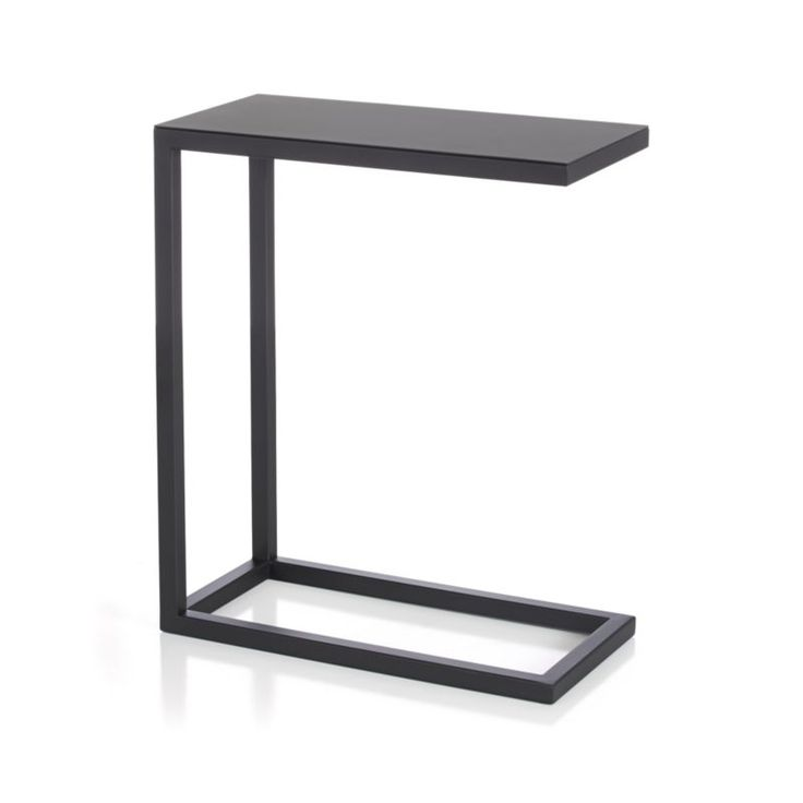 Avenue Black C Table | Crate And Barrel   Option For Side Tables For The  Sectional