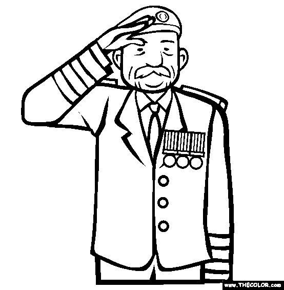 Veterans Coloring Page | Free Veterans Online Coloring