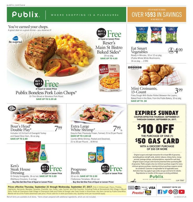 Publix Weekly Ad September 21 - 27 #grocery and #food savings #Publix circular United Sates