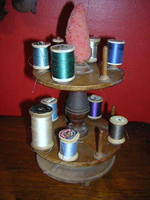 Vintage Wooden Spools Ideas
