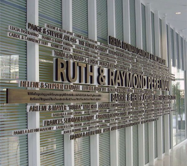 Perelman Donor Wall by Mark Jenkinson, via Behance