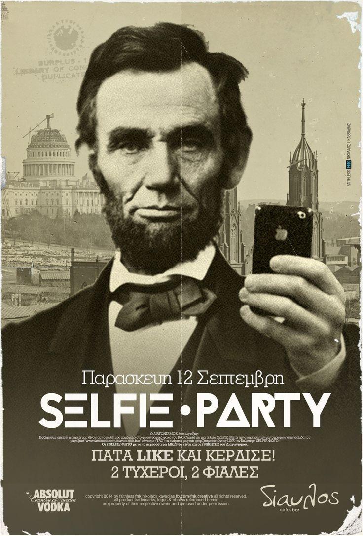 selfie party event poster fb.com/fnk.creative