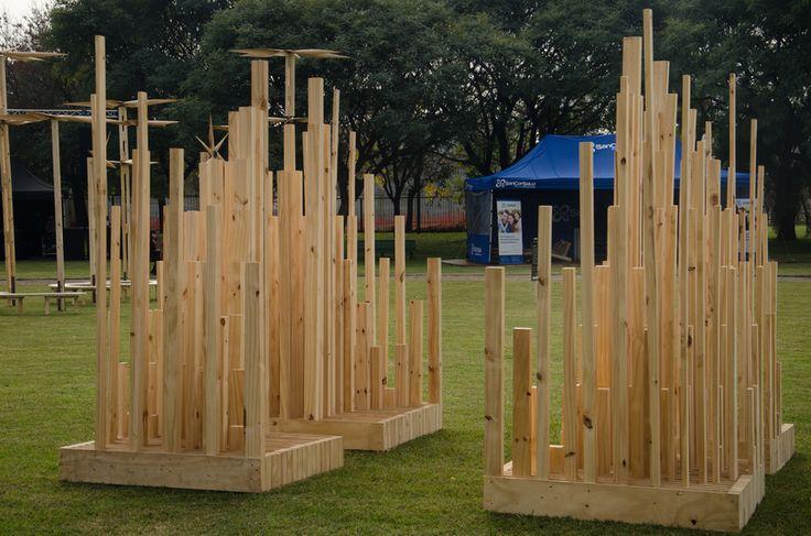 CIUDAD DESPIERTA Daniela Frola + Celeste Iglesias + Greta Clinkspoor + Mónica Cajas + Florencia Dacal   #diseño #madera #festival #wood #design #art #arte #fashion #moda