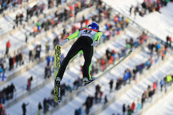 Gregor Schlierenzauer Photos - Gregor Schlierenzauer of Austria competes in the Men's Ski Jumping HS100 qualification round during the FIS Nordic World Ski Championships on February 24, 2017 in Lahti, Finland. - Men's Ski Jumping HS100 - FIS Nordic World Ski Championships