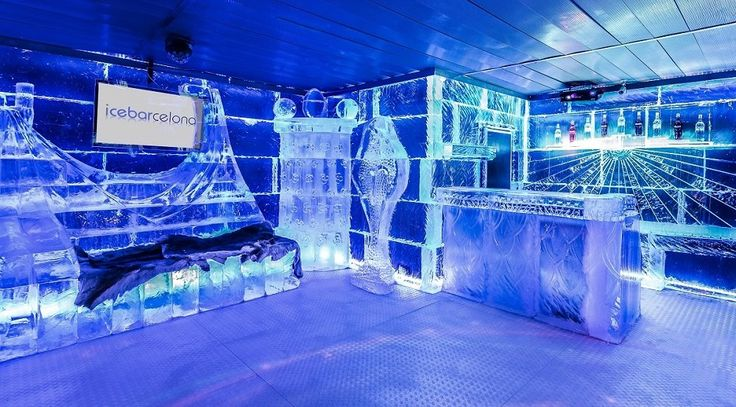 Icebarcelona is a fashionable ice bar in Barcelona, on the beach of El Somorrostro near Barceloneta and offers a unique experience in a modern ice interior.
