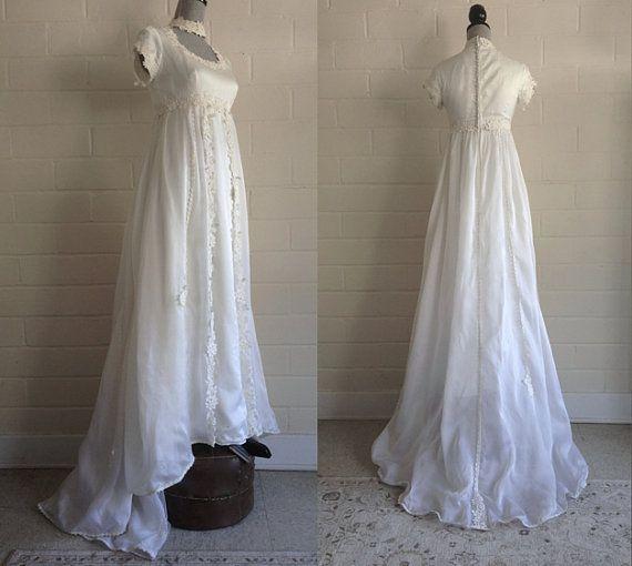WEEKEND SALE Vintage 60s wedding dress / long by ShopWearwithal