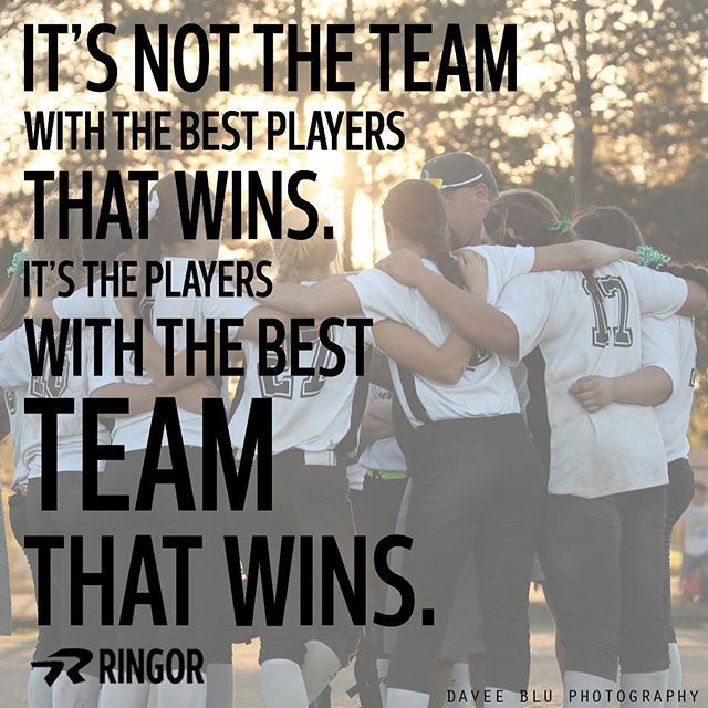 It's always about the team. #softballstrong