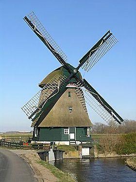 Polder mill Groetermolen, Groet / Schoorl, the Netherlands.