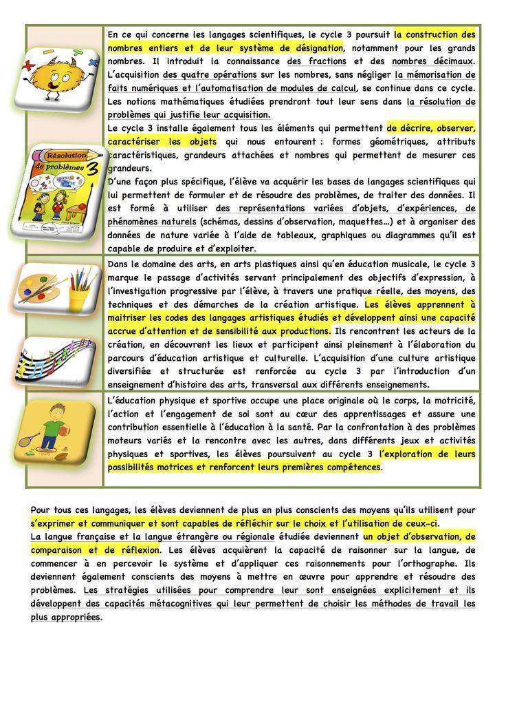 Volet 1 et 2 : les spécificités du cycle 3 - La classe de Luccia !