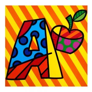 Letter A by Romero Britto