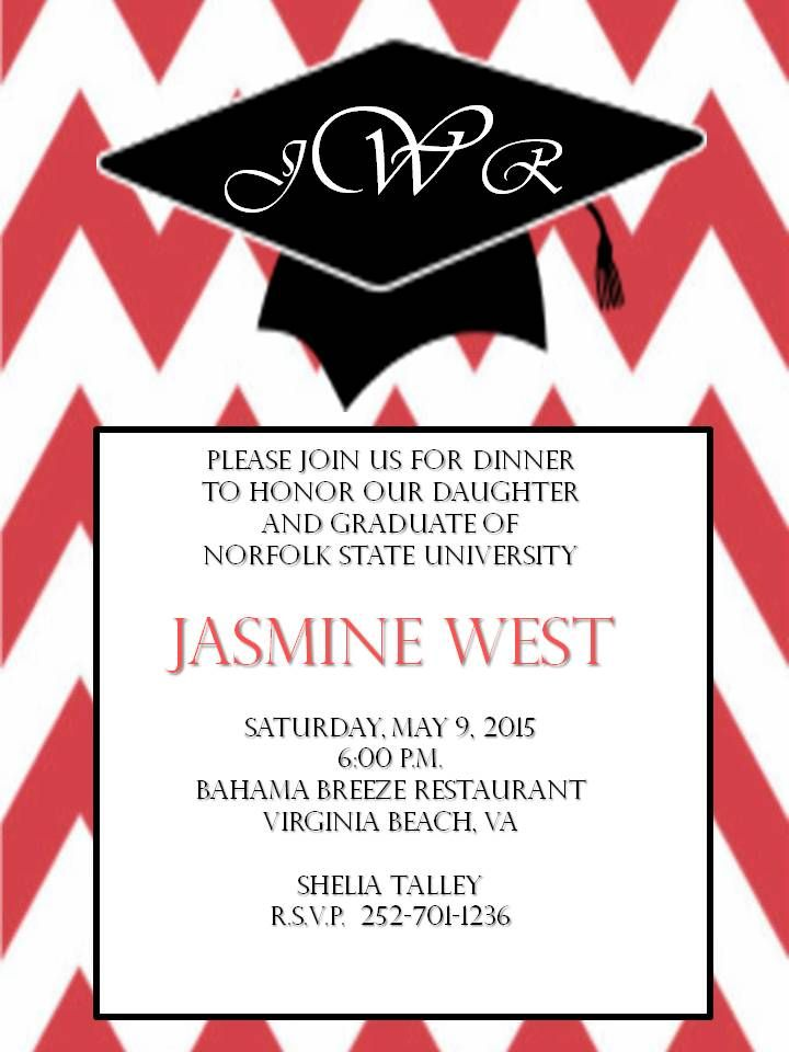 College Graduation Dinner Invitation – Graduation Dinner Invitations