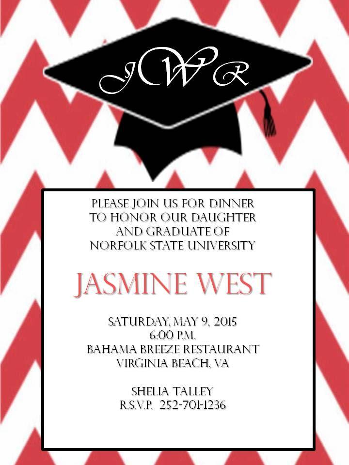 college graduation dinner invitation