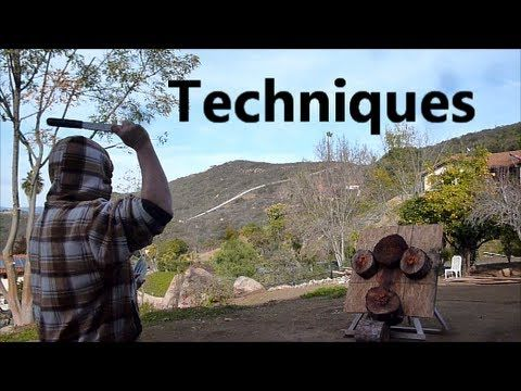 Knife Throwing Techniques Part 2 - Epic Blade Time