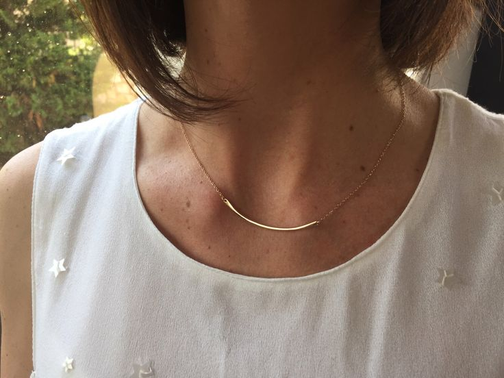 A personal favorite from my Etsy shop https://www.etsy.com/listing/491767878/gorgeous-gold-bar-necklaceminimalist