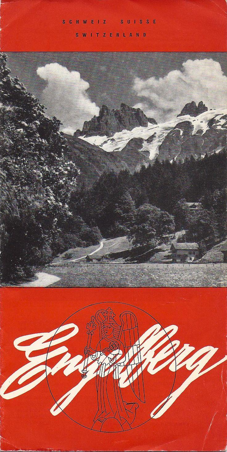 Vintage travel brochure about Engelberg, Switzerland