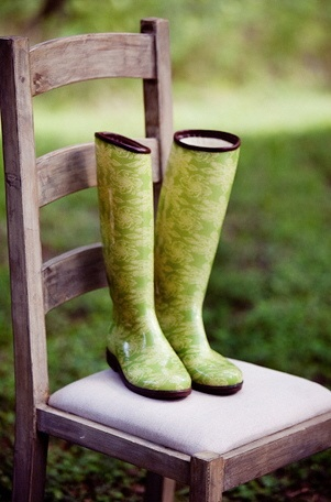 The often used & much favored garden boots of Chef 'Sage' Duchamps.