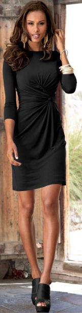 Love the rouching - hides many, many sins. wear with riding boots for a casual day!
