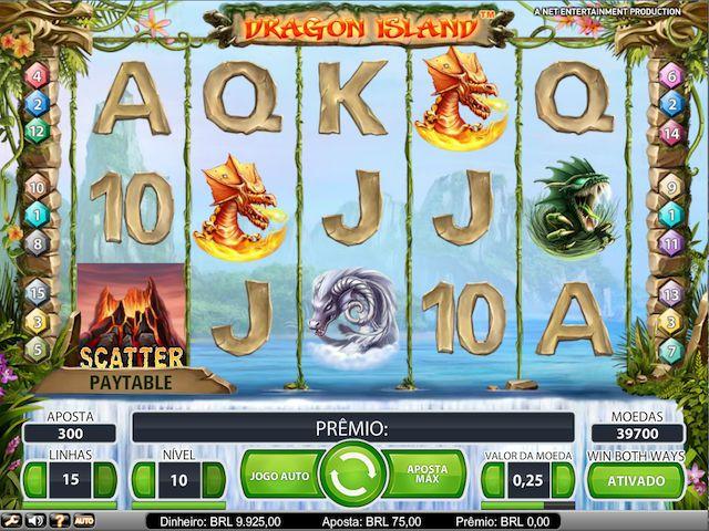 O Dragon Island é uma máquina de 5 colunas e 3 linhas que leva você em uma viagem ao mundo mítico dos dragões. O jogo possui Win Both Ways, substituições com Golden Wild e Free Spins com Expanded Wild.