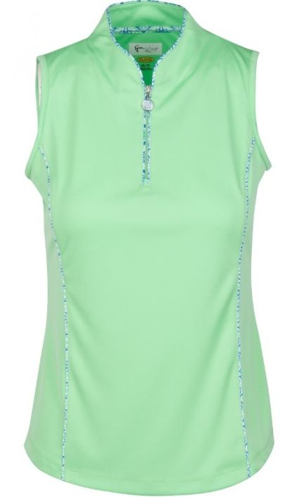 Check out our BARCELONA (Cilantro) Greg Norman Ladies ML75 Isabella S/L Tulip Neck Golf Shirt! Find stylish golf apparel at #lorisgolfshoppe Click through to own this shirt!