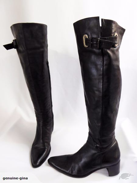 MI PIACI genuine leather overknee boots buckles size 40