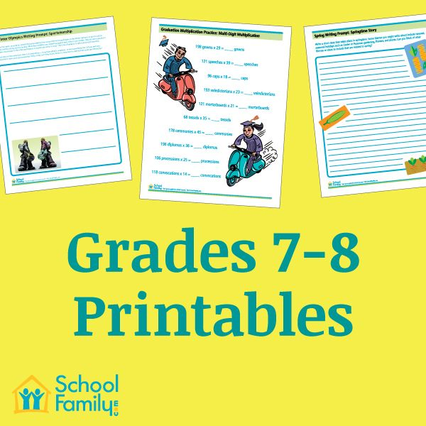 11 Best Images About 7th Grade Worksheets On Pinterest