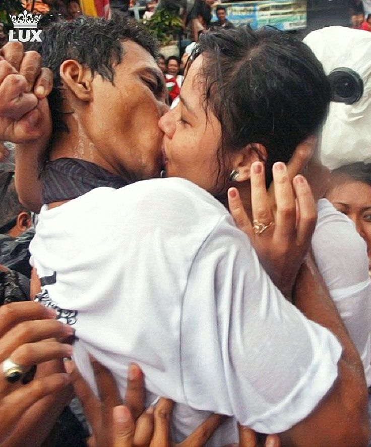 "In March, a day after Nyepi Day, the Balinese Hindu hold a kissing ceremony called Omed-omedan. The tradition held by the people of Banjar Kaja, in Denpasar. Participants for this unique tourism attraction are men and girls who have certain condition. Kissing hysteria in ""Omed-Omedan"" tradition at Banjar Kaja, is welcomed enthusiastically by thousand of local people as well as domestic and foreign tourists. #Omedomedan #Nyepiday"