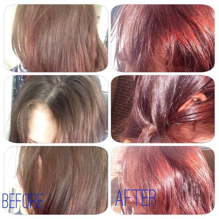 before and after using henne color henna in acajou mahogany its really hard to - Coloration Henn Acajou