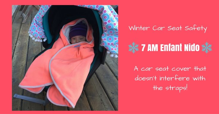 """The 7 AM ENFANT Nido Car Seat Cover is a safe alternative to traditional """"bunting bag"""" style bucket seat covers that are not safe in the event of a crash."""