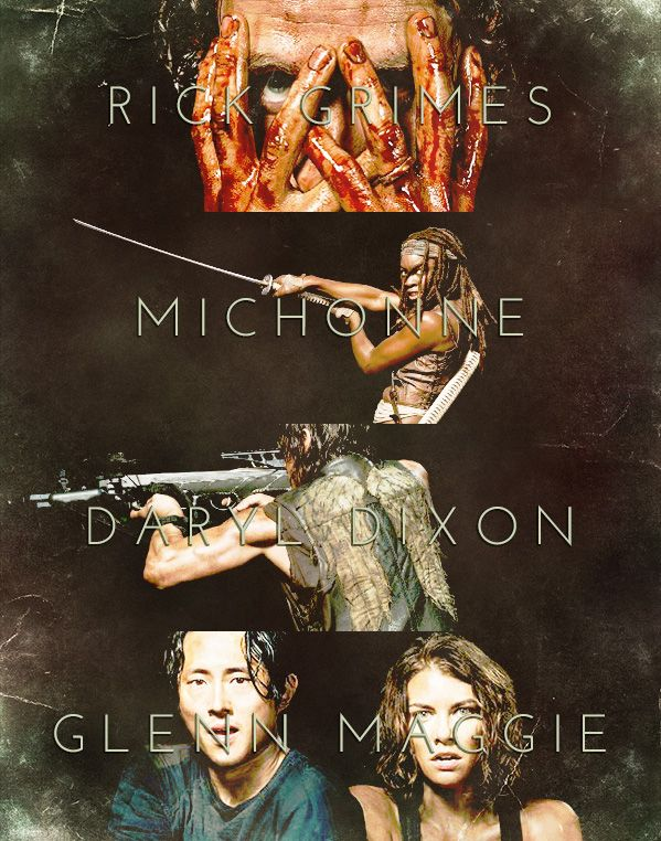 "spaceshipdear: "" The Walking Dead - The Fantastic Five """