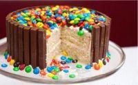 receptenvandaag kitkat M&M taart