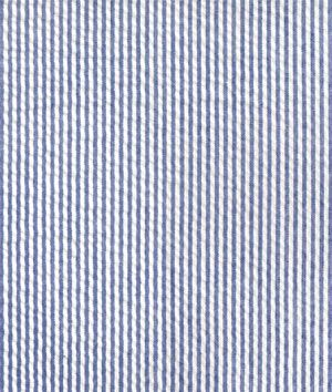 Robert Kaufman Royal Blue Seersucker Stripe Fabric Shops