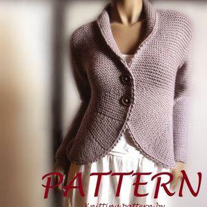 Vrouwen blazer vest breien patroon breien geknoopte cardigan trui makkelijk brei instant Download PDF patroon beschikbaar alleen in het Engels