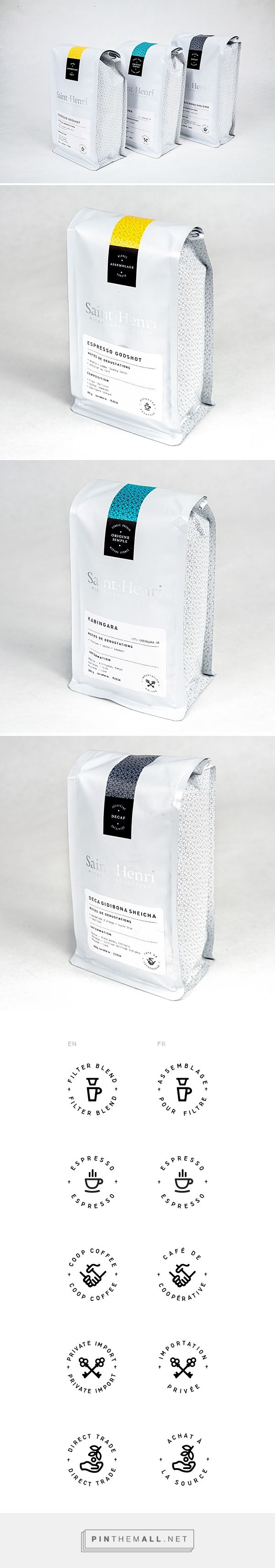 Cafe St. Henri Packaging on Behance... - a grouped images picture - Pin Them All