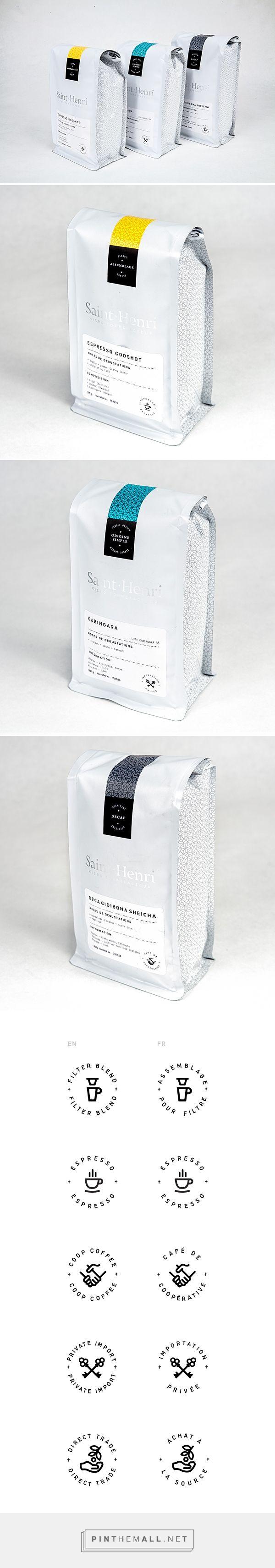 Cafe St. Henri Packaging on Behance - created via https://pinthemall.net