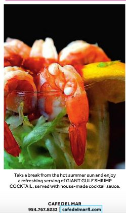 Cafe Del Mar | Giant Gulf Shrimp Cocktail