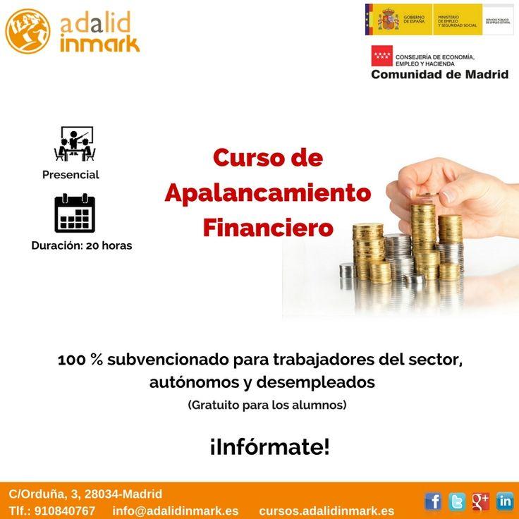#Curso de #Apalancamiento financiero gratuito para #trabajadores del sector, #autónomos y #desempleados.